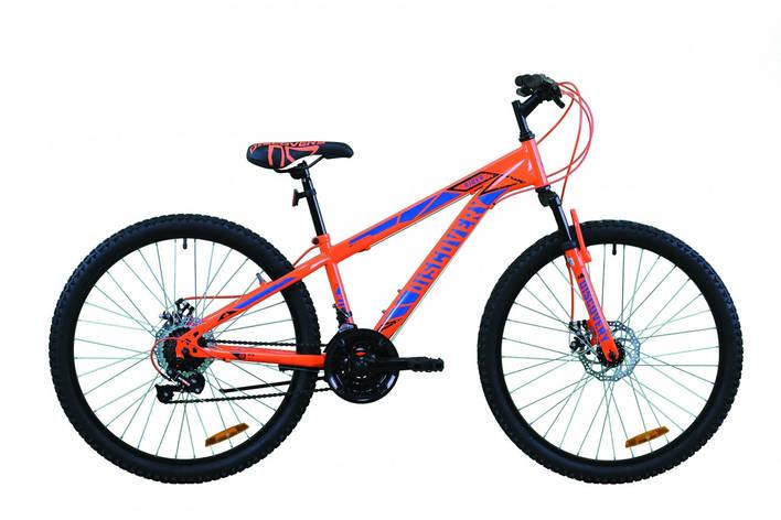 """Велосипед гірський 26"""" Discovery Rider AM DD 2020 червоно-оранжевий з синім, 18"""", фото 2"""