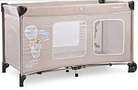 Детский манеж-кроватка Caretero Simplo Plus (Бежевый)