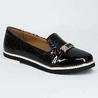 Женские стильные туфли лак-кожа натуральная