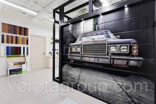 гаражные секционные ворота alutech prestige