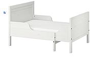 Раздвижная подростковая кровать (мин. длина 137 см максимальная 207 см) белая, фото 1
