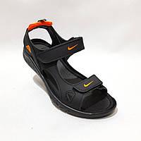 Мужские кожаные сандалии в стиле Nike отличного качества, фото 1