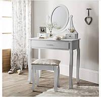 Туалетный Столик косметический со стульчиком Bonro ручная работа Белый