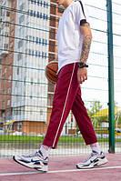 Спортивные штаны с полосой мужские ТУР Cage бордовые(только XL), фото 1