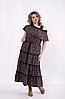 Плаття літнє довге з обробкою мереживом, з 42 по 74 розмір