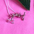 Серьги пуссеты крестики серебряные - Серьги-гвоздики кресты серебро - Серьги минимализм, фото 6