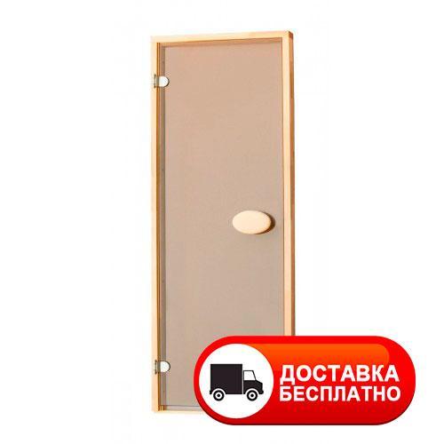 Двери для бани ПАЛ 70х190 см (матовая бронза)