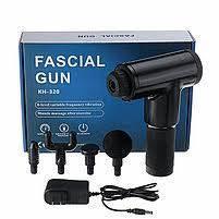 Портативный ручной массажер для тела Fascial Gun KH-320 массажный пистолет, фото 2