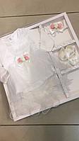 Платье нарядное, набор для крещения, в комплекте: колготки, платье, пинетки, бодик, размер 56- 62 см