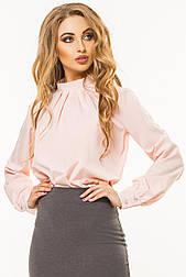 Пудрова блузка на стійці зі складами