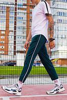 Спортивные штаны с полосой мужские ТУР Cage зеленые(только XL), фото 1