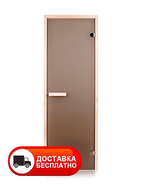 Двери для бани 70х190 см Greus Classik (матовая бронза) 2 петли