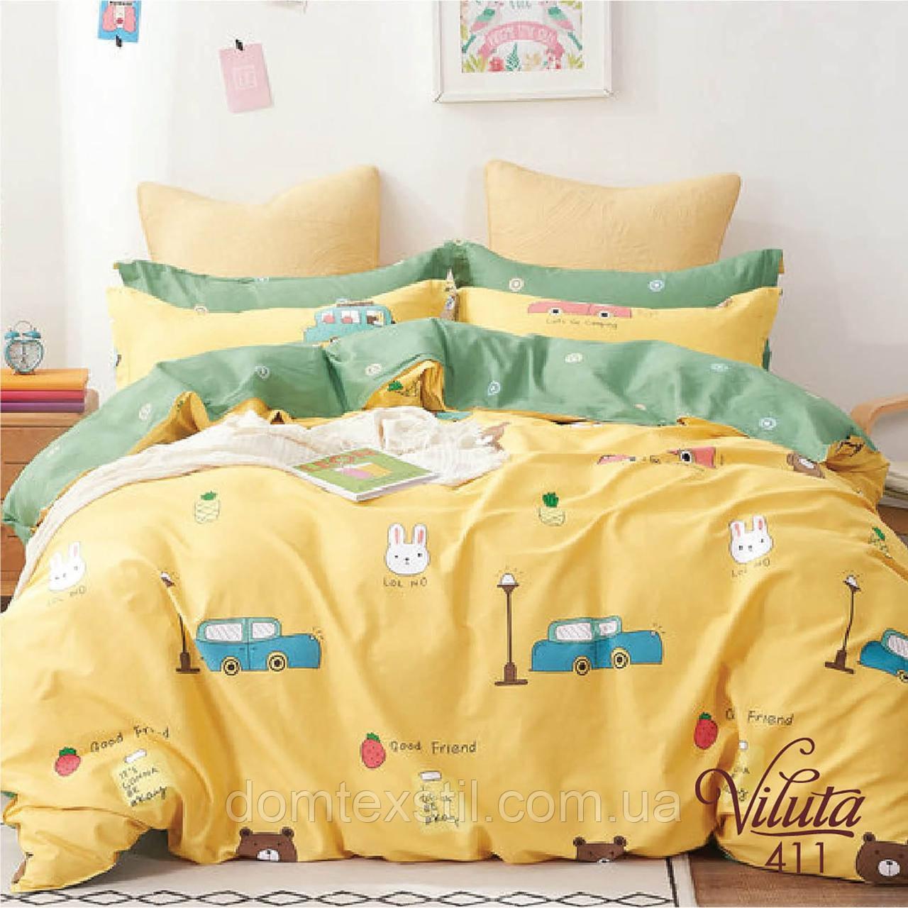 Постельное сатиновое белье в кроватку