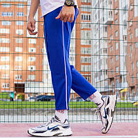 Спортивные штаны с полосой мужские ТУР Cage синие, фото 1