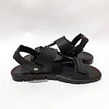 41,43,44,45 р Чоловічі шкіряні сандалі відмінної якості, фото 6