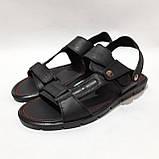 41,43,44,45 р Чоловічі шкіряні сандалі відмінної якості, фото 4