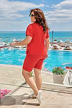 """Летний женский спортивный костюм-тройка """"VOYAGE"""" с футболкой (большие размеры), фото 3"""