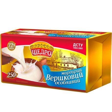 "Маргарин Щедро ""Вершковий особливий"" 72%,0.250 пачка"