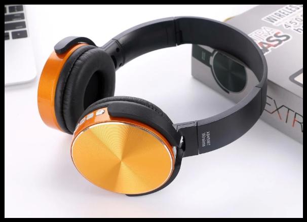 Беспроводные наушники Sony XB450BT  Bluetooth-гарнитура  оранжевые