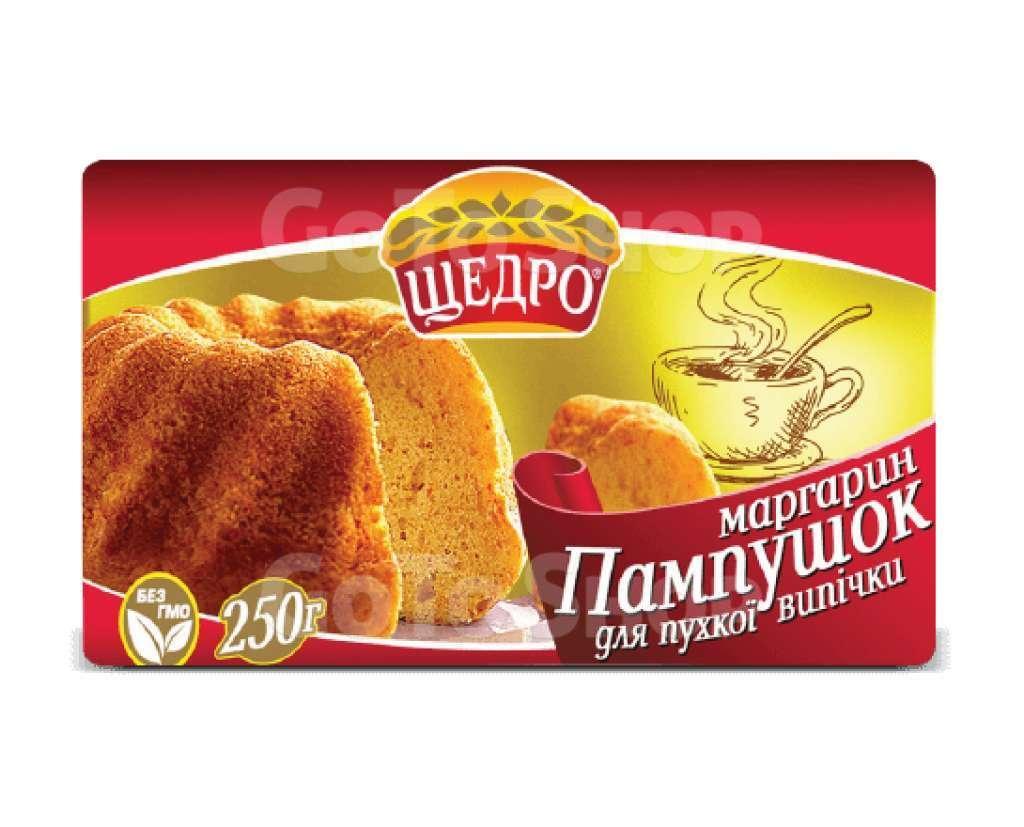 """Маргарин Щедро """"Пампушок"""", 72%,0.250 пачка"""