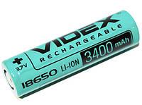 Аккумулятор 18650 3400mAh Videx Li-Ion 3,7V (без защиты)