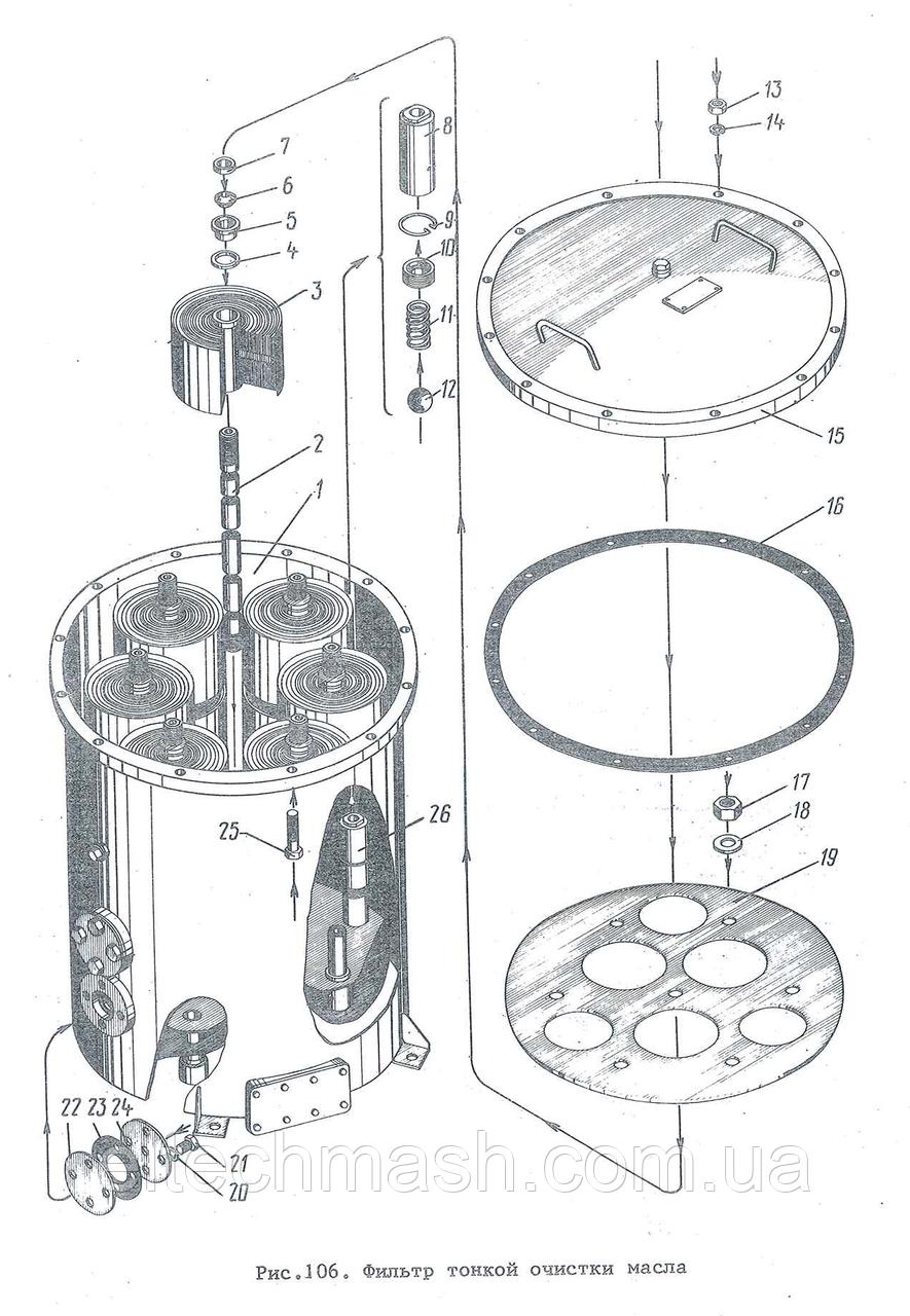 Сальник фільтра тонкого очищення масла 3Д100.63.086