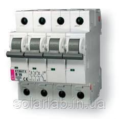 Автоматический выключатель ETI ETIMAT 6 3p+N C 16A (6kA)