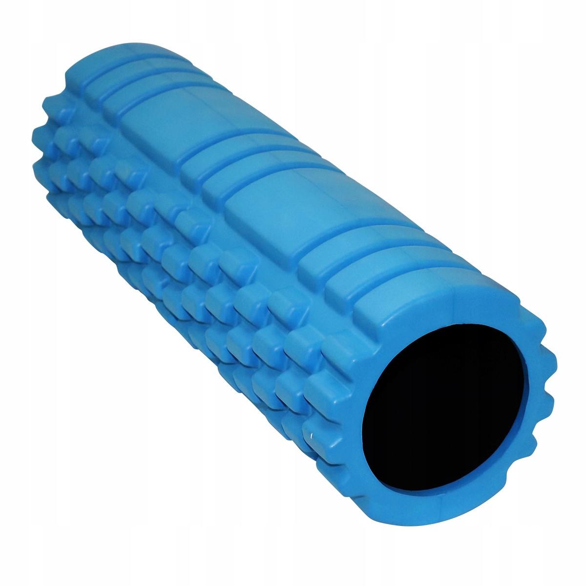 Массажный ролик (валик, роллер) SportVida EVA 45 x 14 см SV-HK0213 Blue для дома и спортзала синего цвета