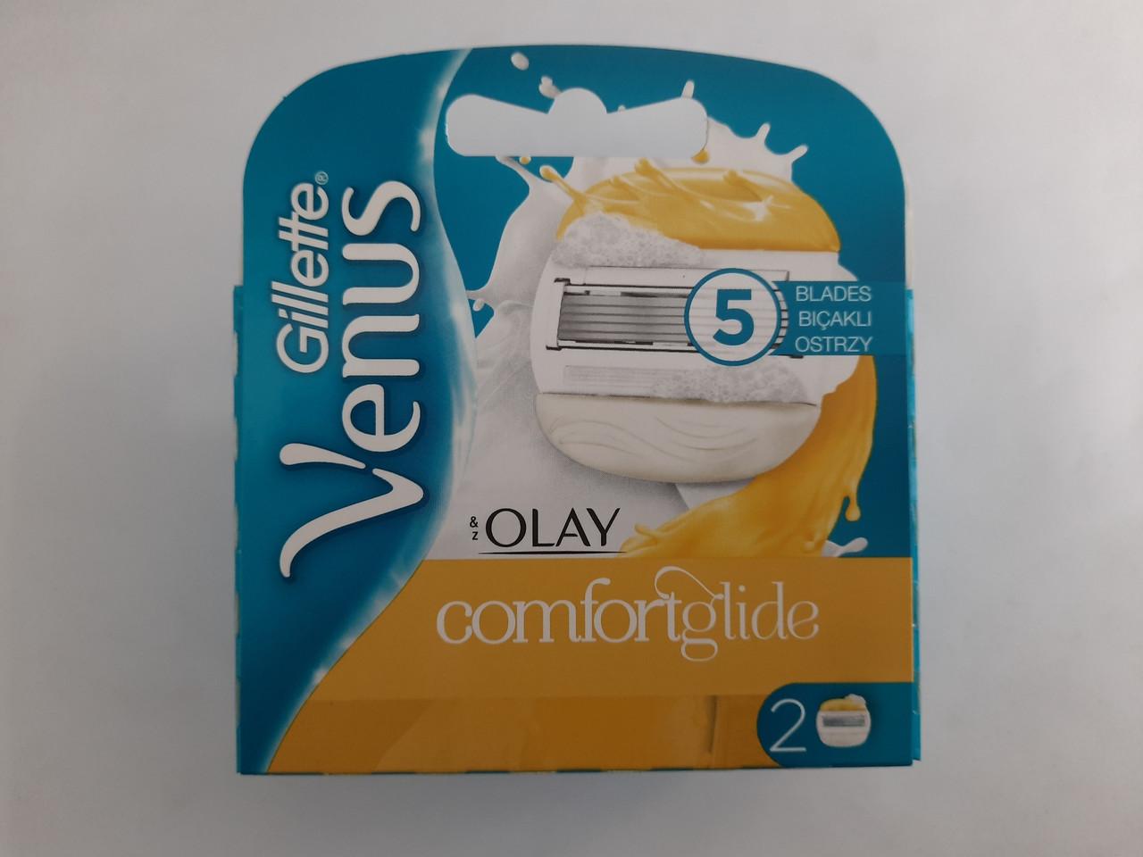 Кассеты женские для бритья Gillette Venus 5 Olay 2 штуки ( Жиллетт Венус Олей Оригинал )