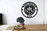 "Эмблема ""Манчестер Сити"", Интерьерная картина из дерева, Manchester City"