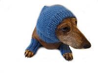 Леггинсы и шапка комплект для собак из мохера, леггинсы и шапка для таксы