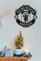 "Эмблема ""Манчестер Юнайтед"", Интерьерная картина из дерева, Manchester United"