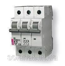Автоматический выключатель ETIMAT 6 3p C 63А (6 kA), ETI