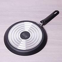 Сковорода блинная Kamille 24см с антипригарным покрытием для индукции, фото 3