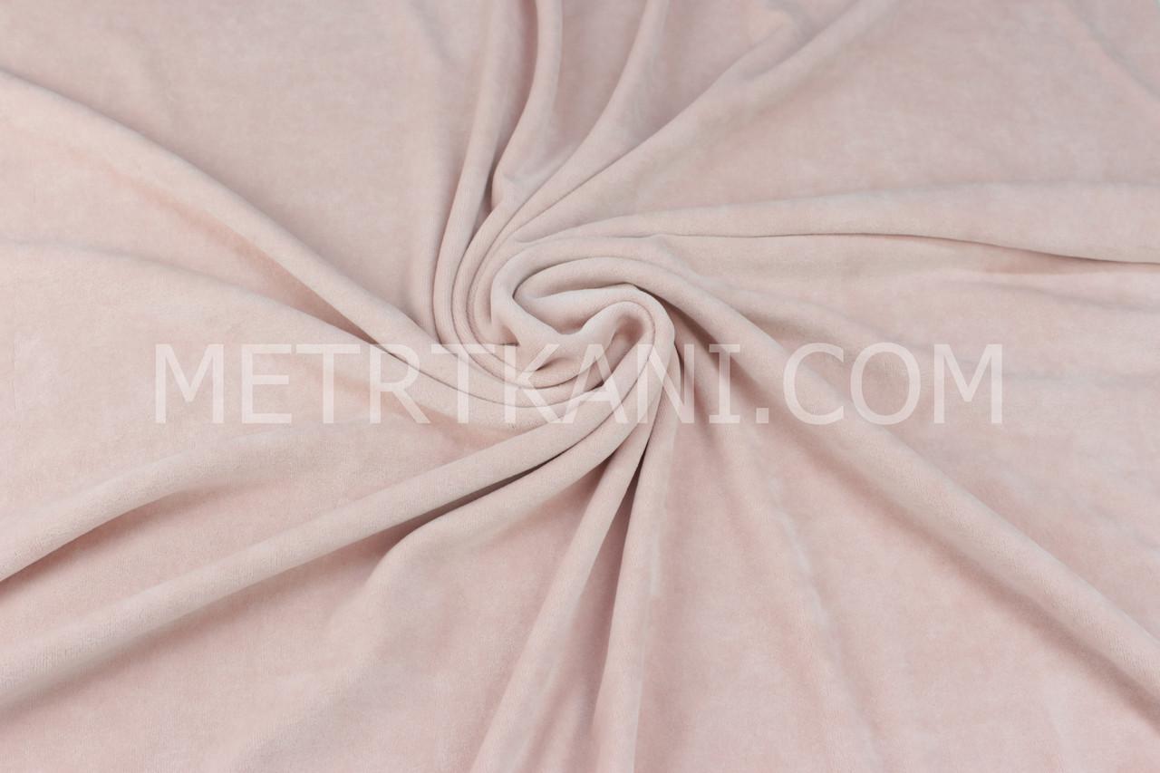 Велюр х/б грязно-розового цвета, ширина 180 см № В-051