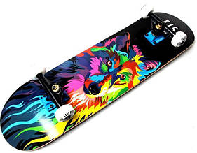 СкейтБорд деревянный от Fish Skateboard ВОЛК