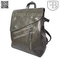 Рюкзак женский, сумка рюкзак женская для девочки из кожзама Gray S583-3#