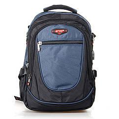 Городской рюкзак Power In Eavas 312 с карманом для ноутбука black-blue