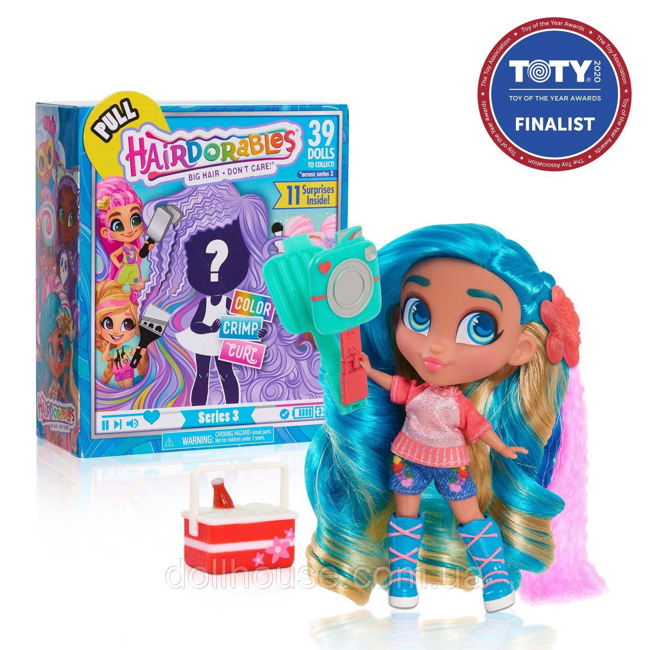 Hairdorables S3 Хэрдораблс 3 серия кукла сюрприз с роскошными волосами Collectible Dolls Series 3
