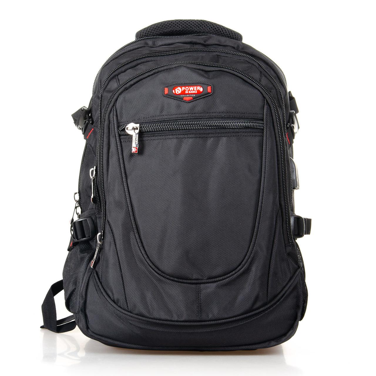 Рюкзак міський Power In Eavas 312 з кишенею для ноутбука чорний