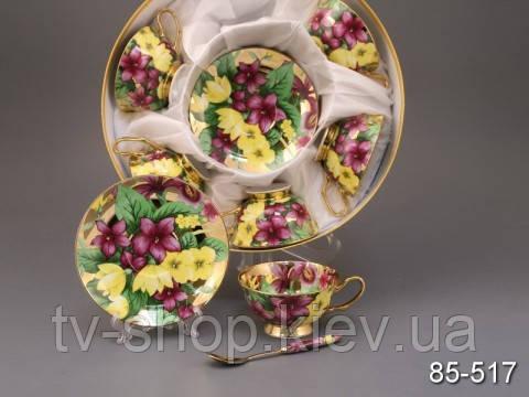 Сервиз чайный с ложками Весенние цветы,Lefard (18пр.)
