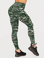 Леггинсы Wild Scrunch Bum Leggings – Tiger Green, фото 1