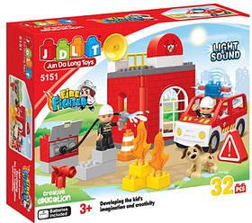 Конструктор JDLT 5151 Пожарная машина 32 детали