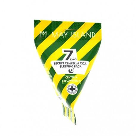 Успокаивающая ночная маска с экстрактом центеллы May Island 7 Days Secret Centella Cica Sleeping Pack, 5г