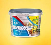 Эмаль универсальная Gloss Aqua Nanofarb 2.7 л