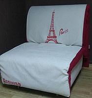Кресло-кровать Elegant 03 100, белый принт Paris