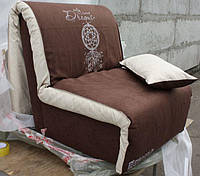 Кресло-кровать Elegant 03 80, коричневый принт Dreem