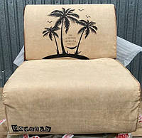 Кресло-кровать Elegant 03 80, бежевый принт Palm