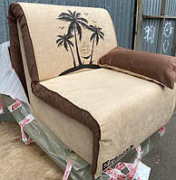 Кресло-кровать Elegant 03 100, бежевый принт Palm