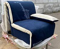 Кресло-кровать Elegant 03 80, синий принт Saxophone